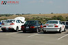 NASA Time Trial, ECR, Oct. 11, 2008 : The Vorshlag crew took 3 cars to the inaugural NASA DE/TT/Road Race at Eagles Canyon Raceway October 11th, 2008. Amy ran her first DE in a decade running the E30. Hanchey ran the EVO X for the first time on a road course in TTB (and won the class). Fair ran the Alpha car in TTU (and won with the fastest TT time of the day, a 1:57.4 lap time). Learned a lot about the EVO with the stock suspension and Dunlop star Specs (good baseline, more work to do for trans cooling). The Alpha car was hauling ass - but slinging oil away from the pickup. Might have damaged a rod bearing. Oh well, time for a power upgrade. Some in-car video from the Alpha is in the VIDEOS section. Event analysis: http://www.vorshlag.com/forums/showthread.php?t=6450