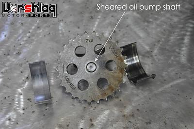 Help, tuner Motorsport drilled oil pump nut disaster